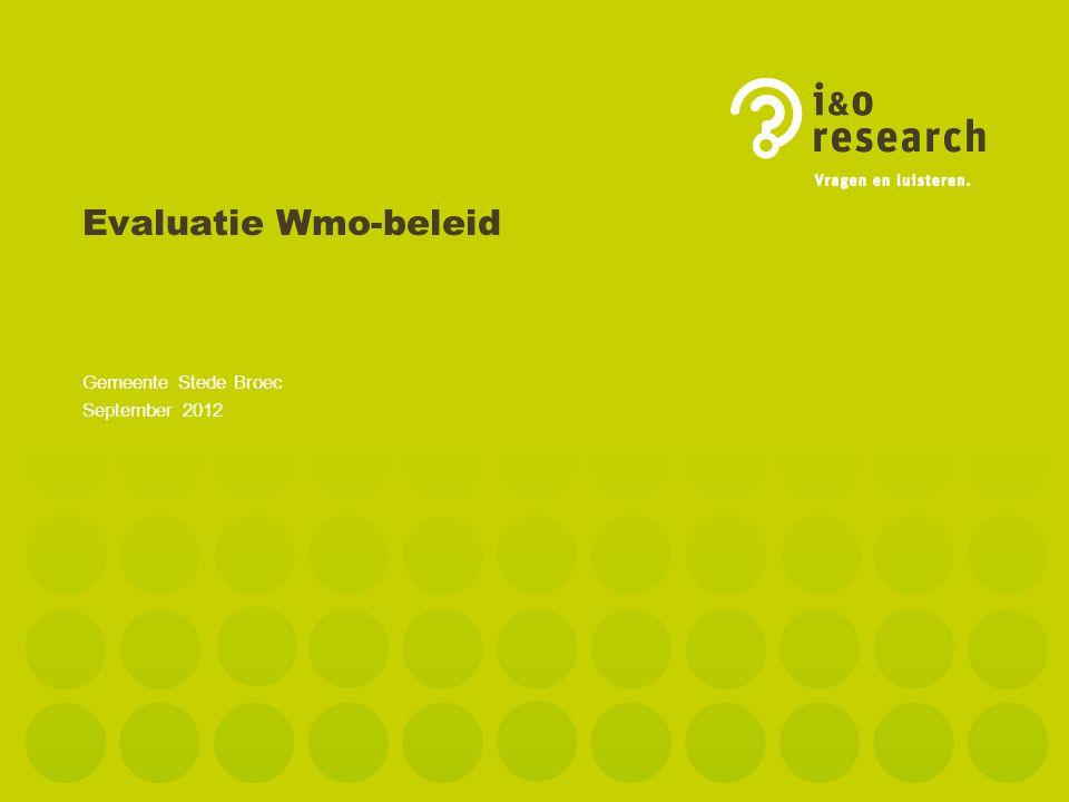 Evaluatie Wmo-beleid Gemeente Stede Broec September 2012