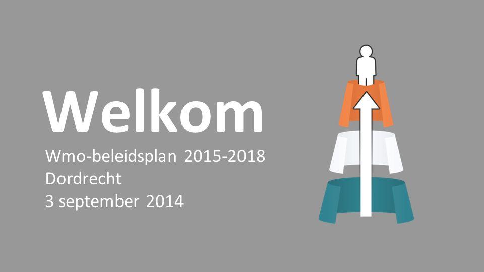 Welkom Wmo-beleidsplan 2015-2018 Dordrecht 3 september 2014