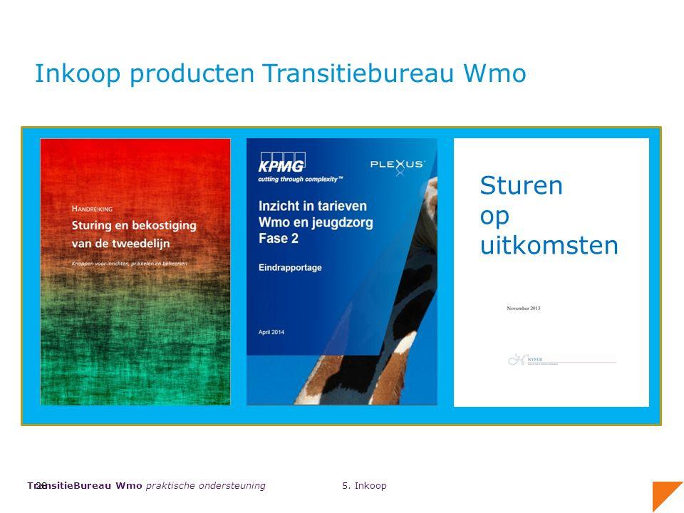 TransitieBureau Wmo praktische ondersteuning 28 Inkoop producten Transitiebureau Wmo 5.