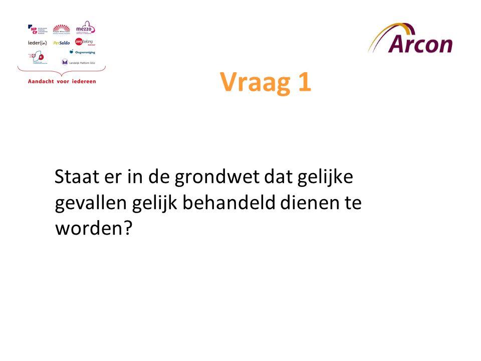 Vraag 2 In 1993 zijn de standaardregels opgesteld voor gelijke kansen en mogelijkheden voor mensen met een handicap door de VN Geeft dit VN-verdrag nieuwe mensenrechten?