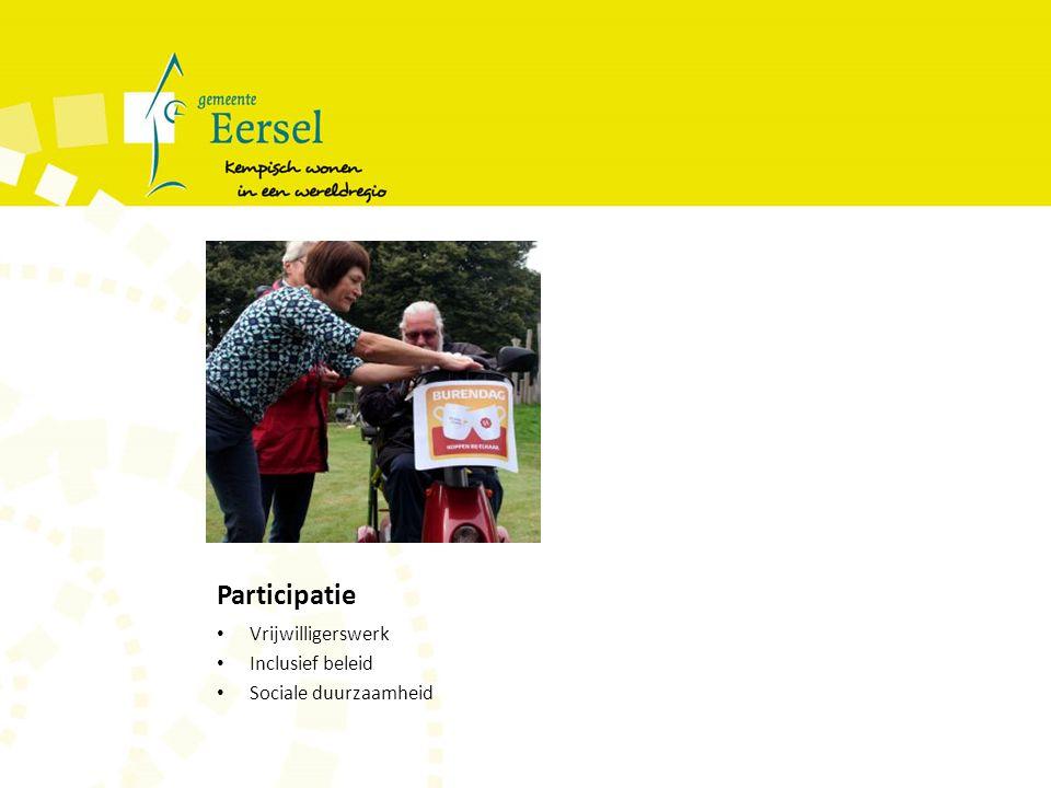 Participatie Vrijwilligerswerk Inclusief beleid Sociale duurzaamheid