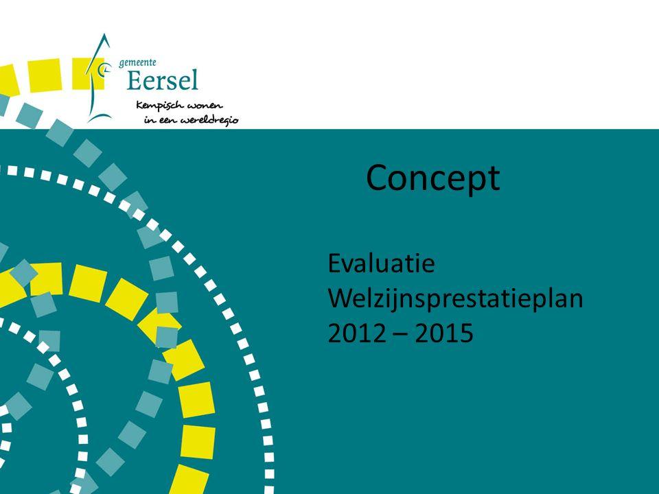 Concept Evaluatie Welzijnsprestatieplan 2012 – 2015