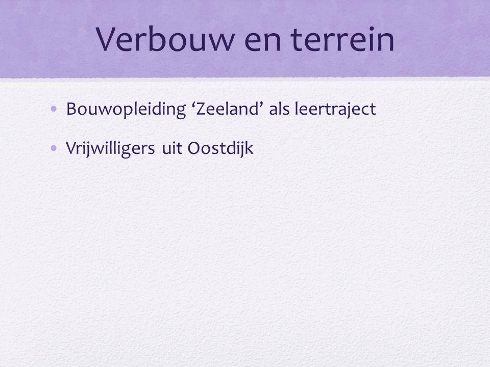 Verbouw en terrein Bouwopleiding 'Zeeland' als leertraject Vrijwilligers uit Oostdijk