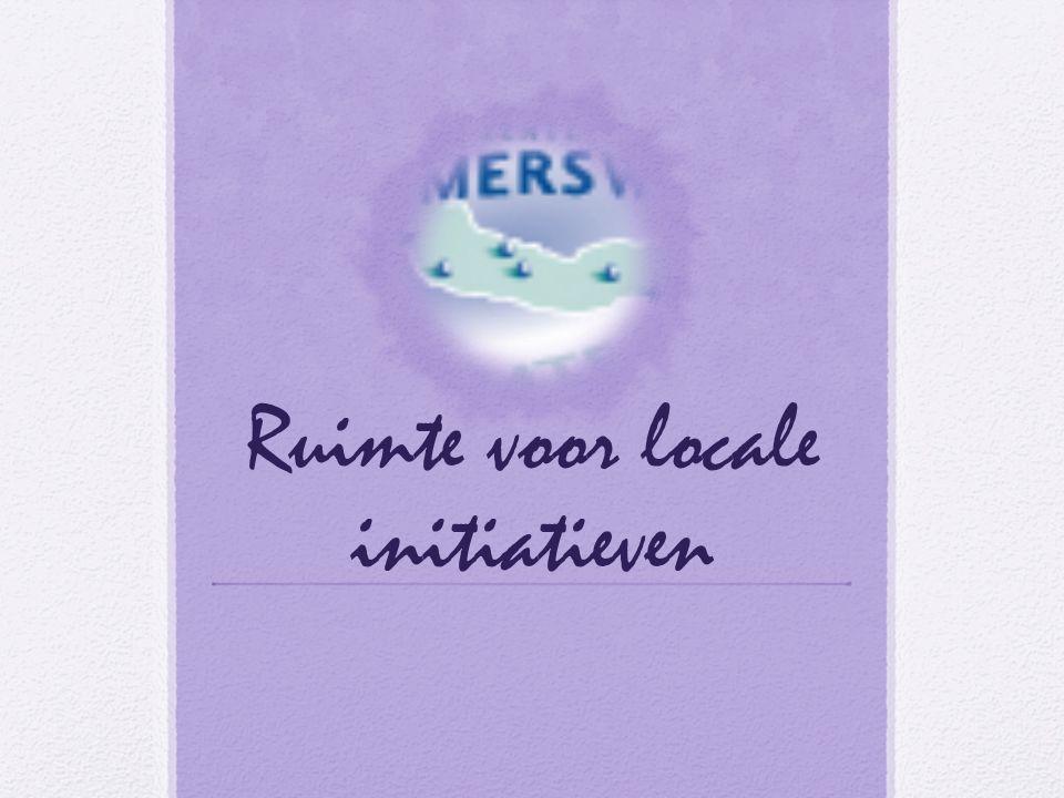 Ruimte voor locale initiatieven