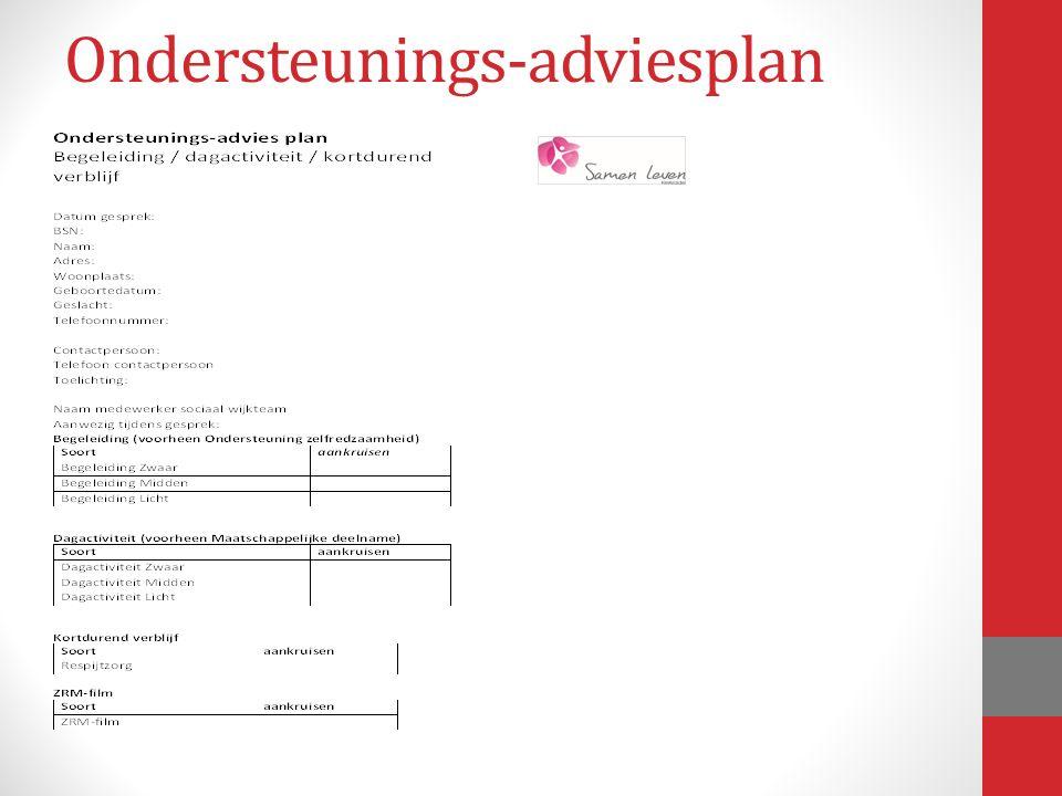 Ondersteunings-adviesplan