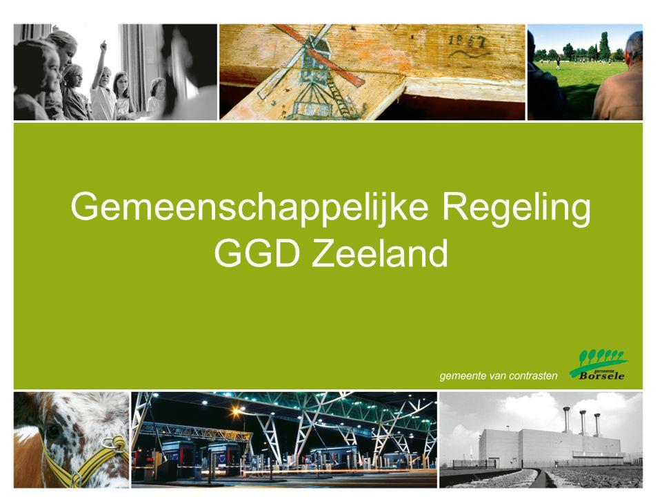 Gemeenschappelijke Regeling GGD Zeeland