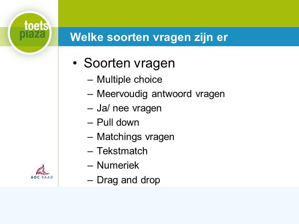 Expertiseteam Toetsenbank Meerkeuze vraag Aandachtspunten Stel een vraag.
