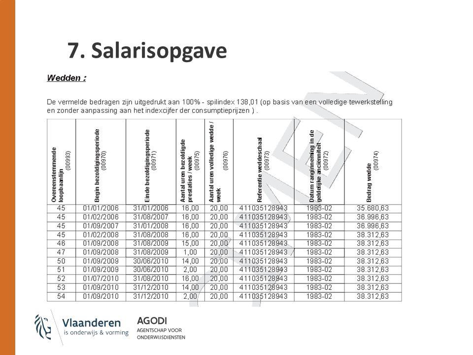7. Salarisopgave