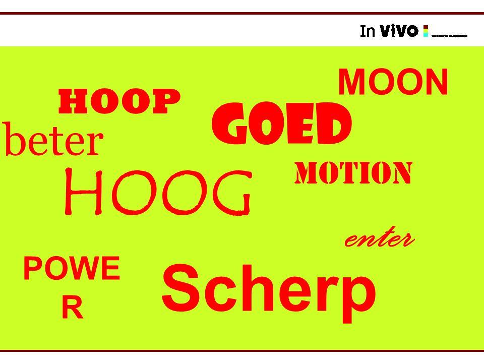 GOED Scherp HOOG MOTION HOOP POWE R enter MOON beter