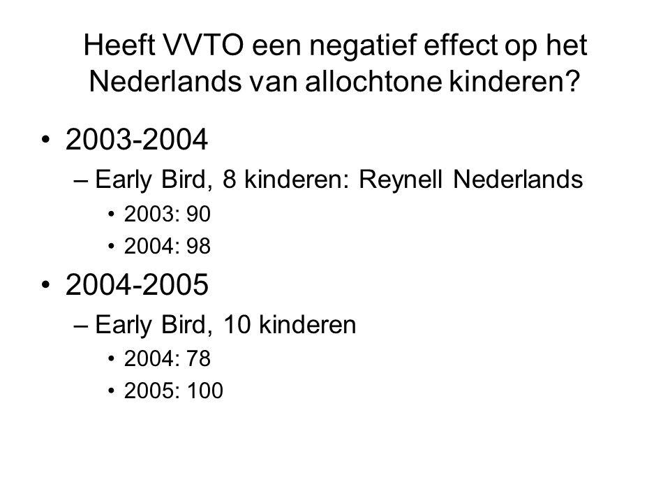 Heeft VVTO een negatief effect op het Nederlands van allochtone kinderen.
