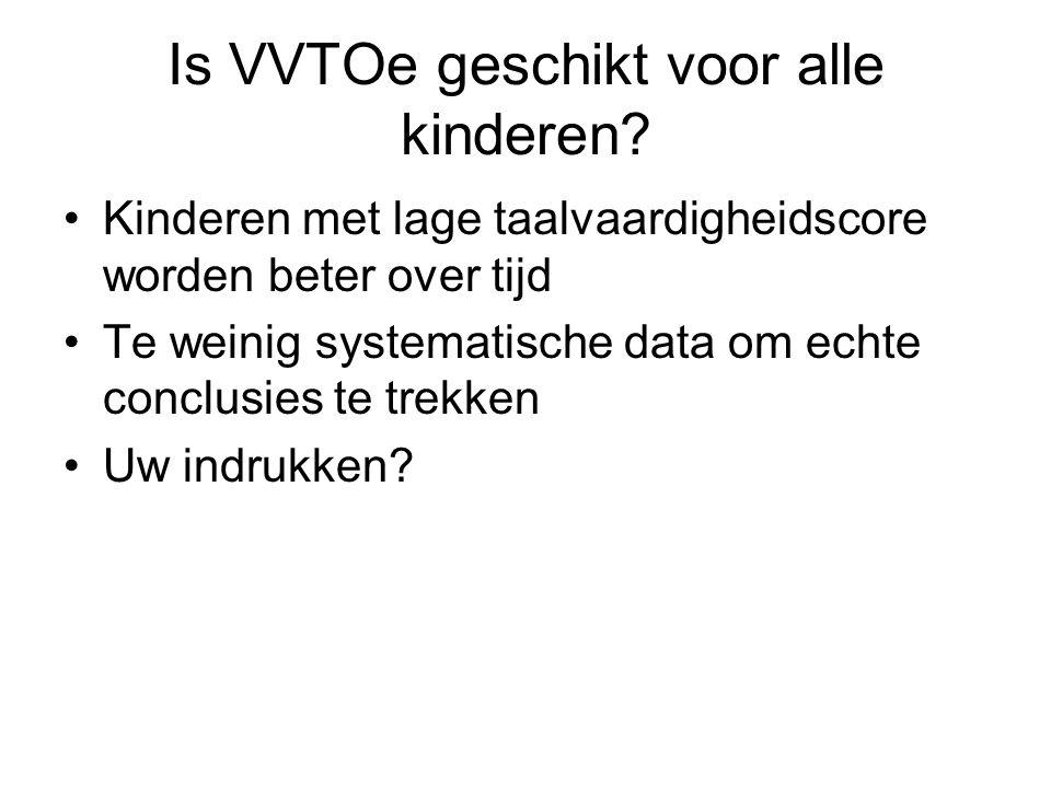 Is VVTOe geschikt voor alle kinderen.