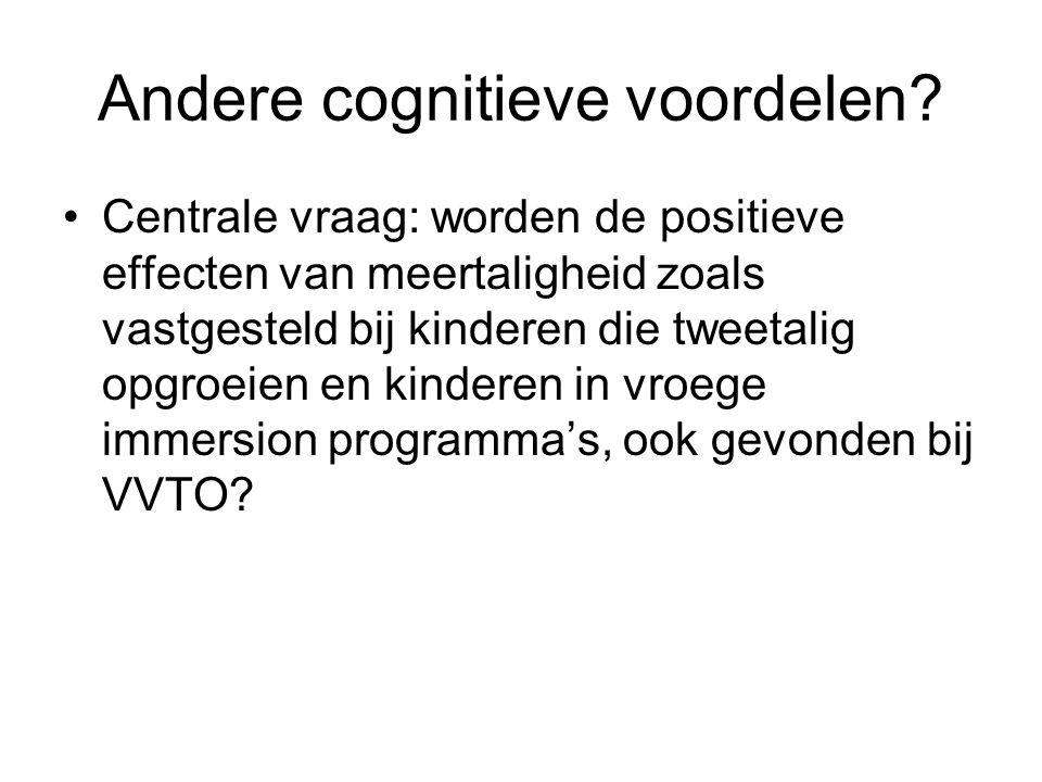 Andere cognitieve voordelen.
