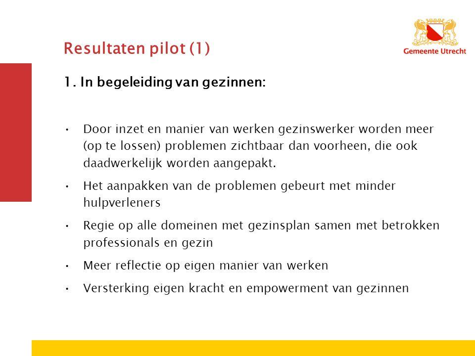 Resultaten pilot (1) 1.