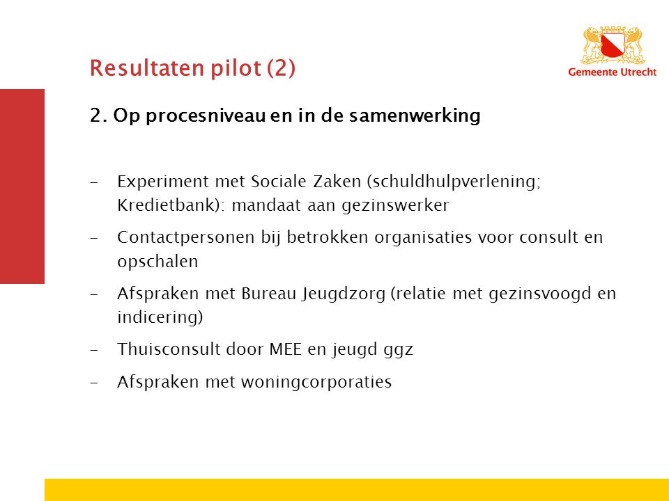 Resultaten pilot (2) 2.