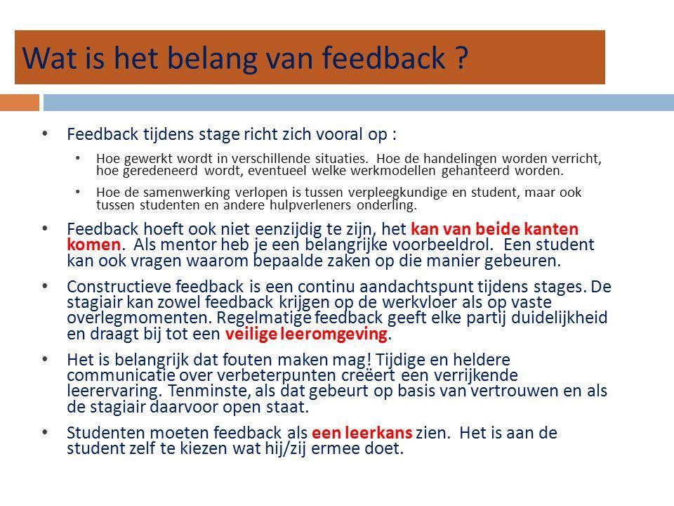 Wat is het belang van feedback .