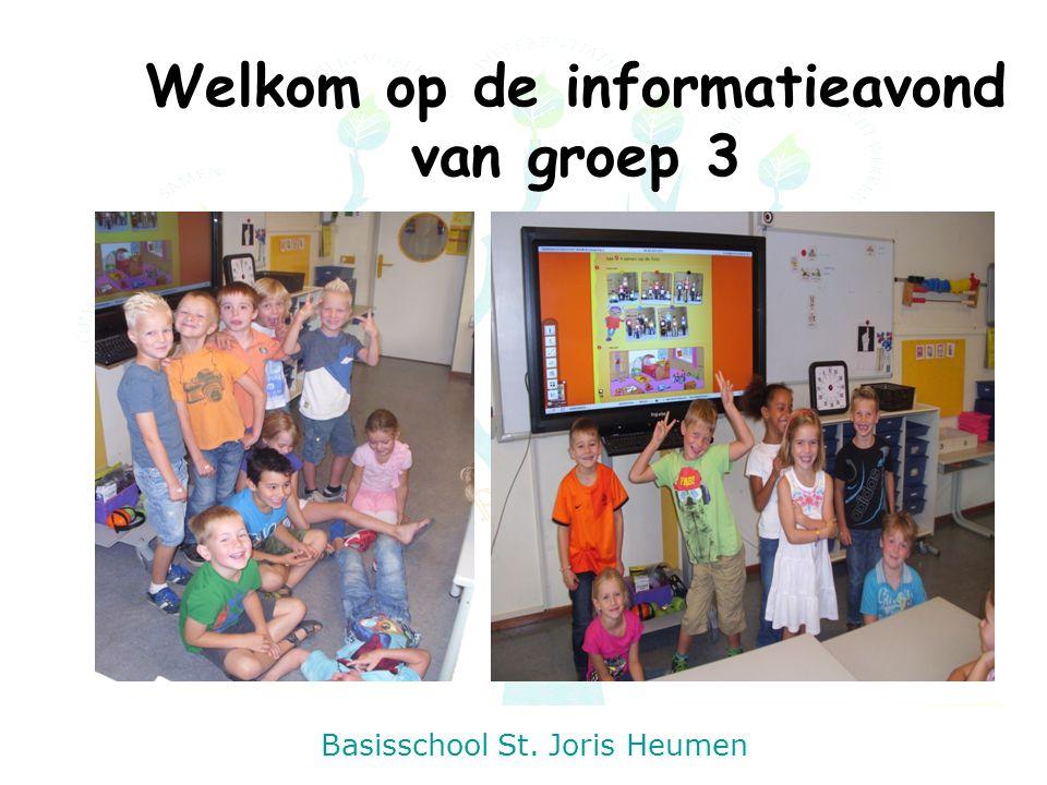 Basisschool St. Joris Heumen Welkom op de informatieavond van groep 3