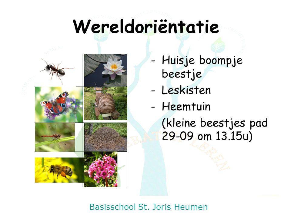 Basisschool St. Joris Heumen Wereldoriëntatie -Huisje boompje beestje -Leskisten -Heemtuin (kleine beestjes pad 29-09 om 13.15u)