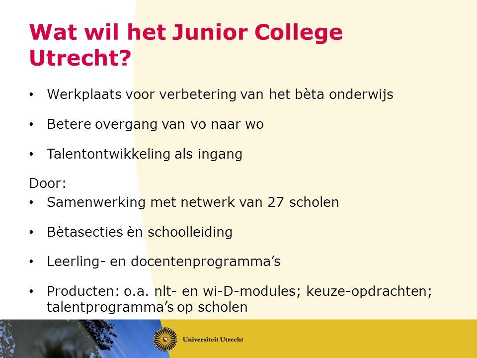 Wat wil het Junior College Utrecht.
