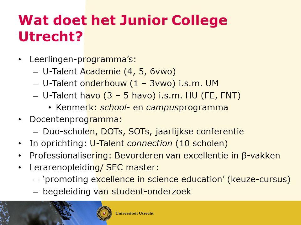 Wat doet het Junior College Utrecht.