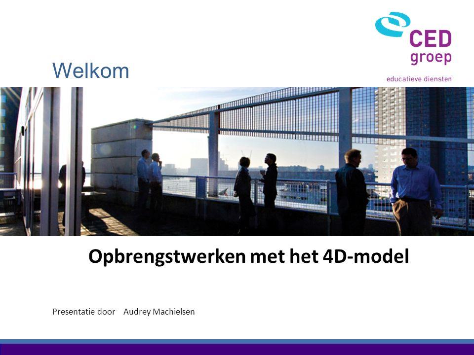 Welkom Presentatie door Opbrengstwerken met het 4D-model Audrey Machielsen