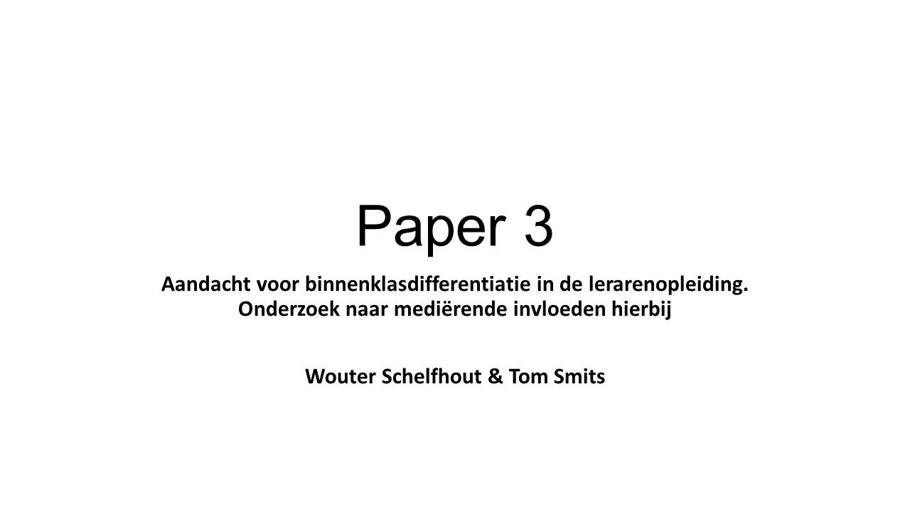 Paper 3 Aandacht voor binnenklasdifferentiatie in de lerarenopleiding.