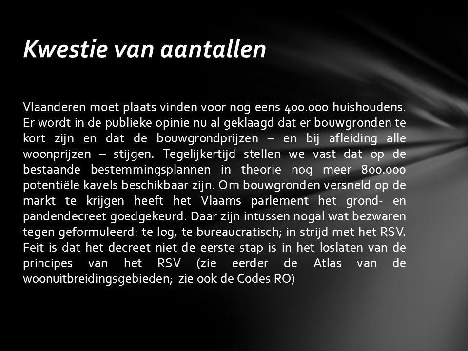 Vlaanderen moet plaats vinden voor nog eens 400.000 huishoudens.