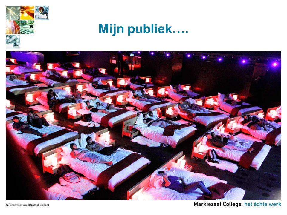 Mijn publiek….