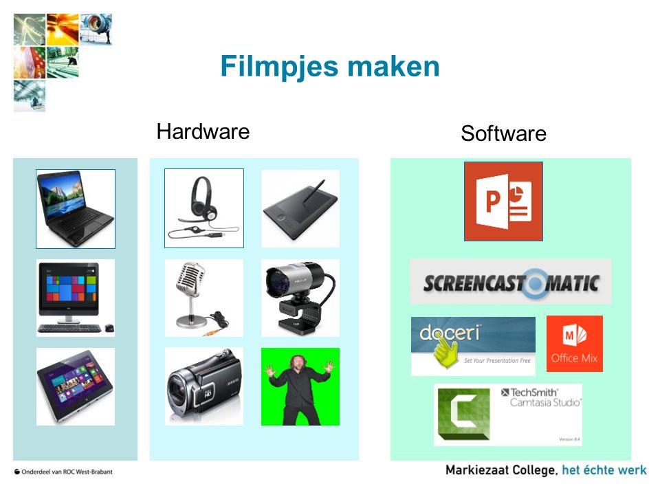 Filmpjes maken Hardware Software