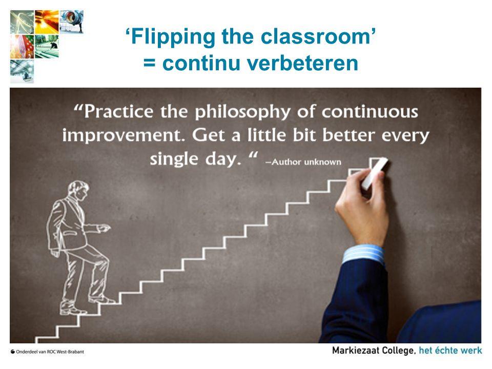 Waarom starten met Flipping the Classroom?
