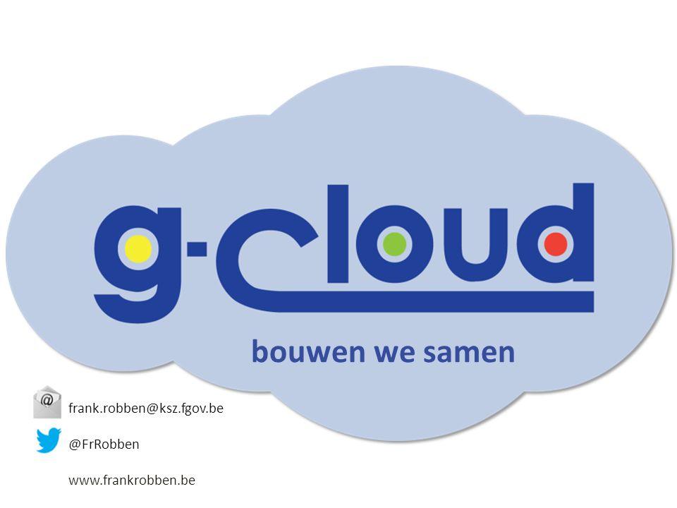 bouwen we samen frank.robben@ksz.fgov.be @FrRobben www.frankrobben.be