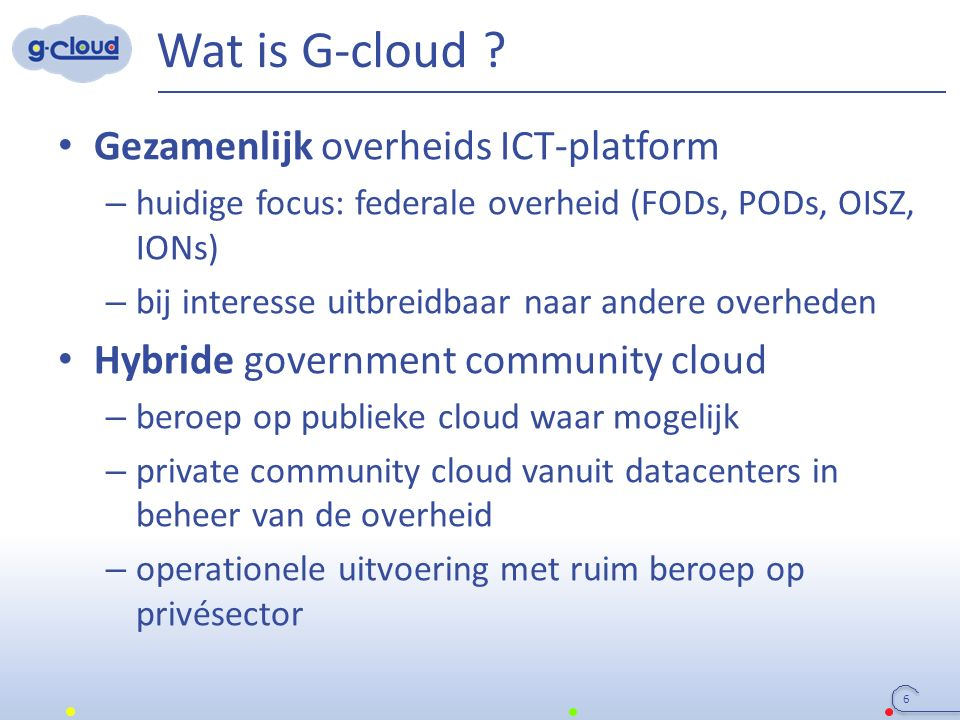 Wat is G-cloud .