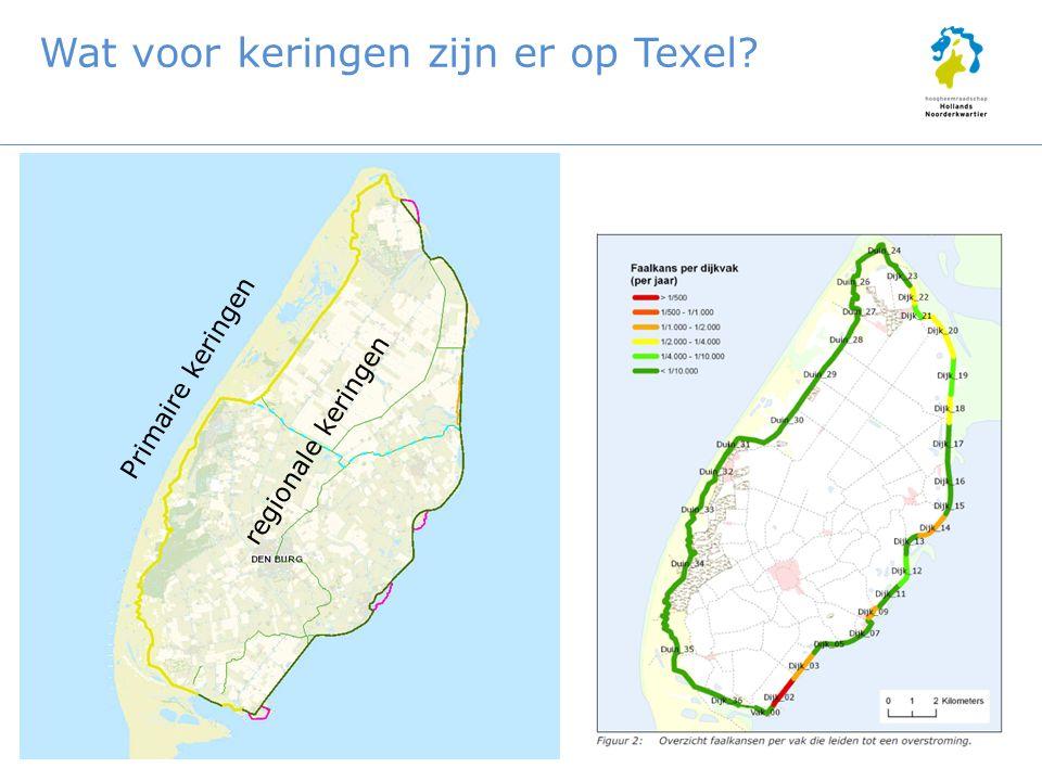 Wat voor keringen zijn er op Texel Primaire keringen regionale keringen