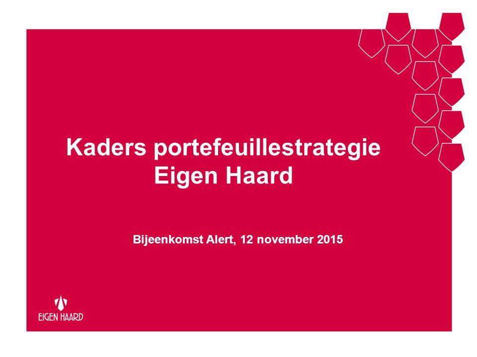 Kaders portefeuillestrategie Eigen Haard Bijeenkomst Alert, 12 november 2015