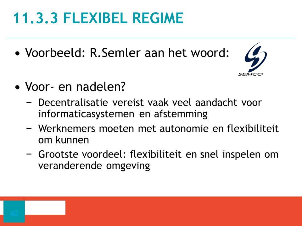 Voorbeeld: R.Semler aan het woord: Voor- en nadelen.