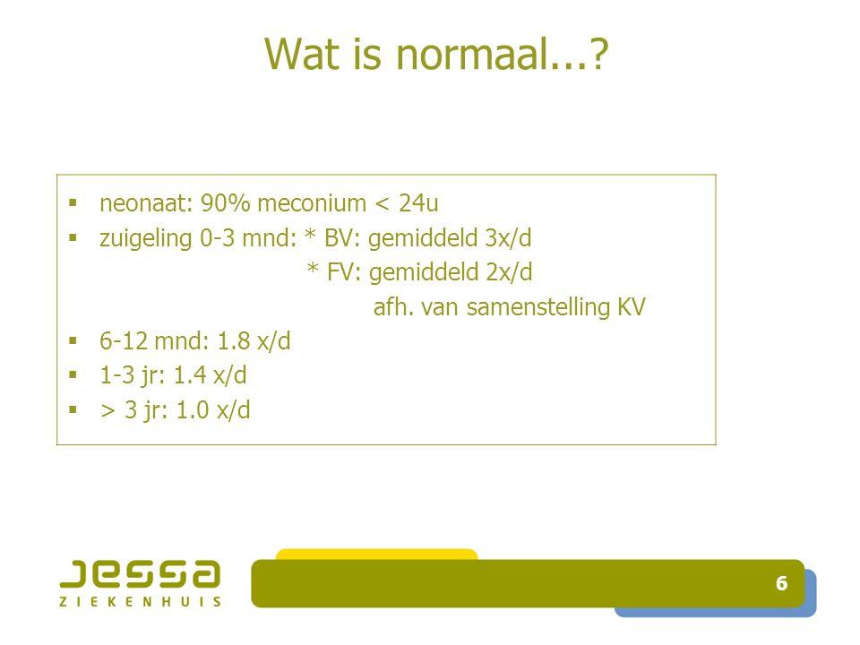 6 Wat is normaal....