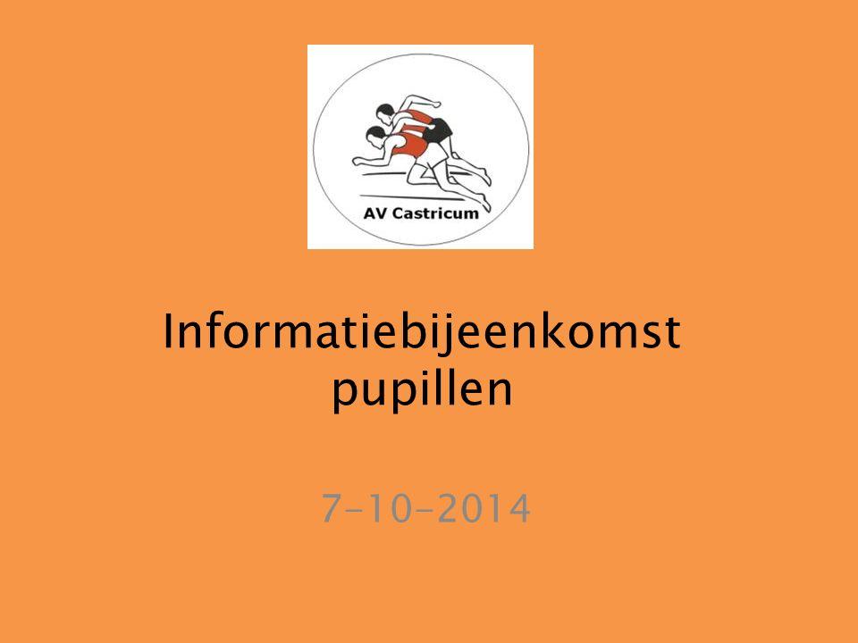 Informatiebijeenkomst pupillen 7-10-2014