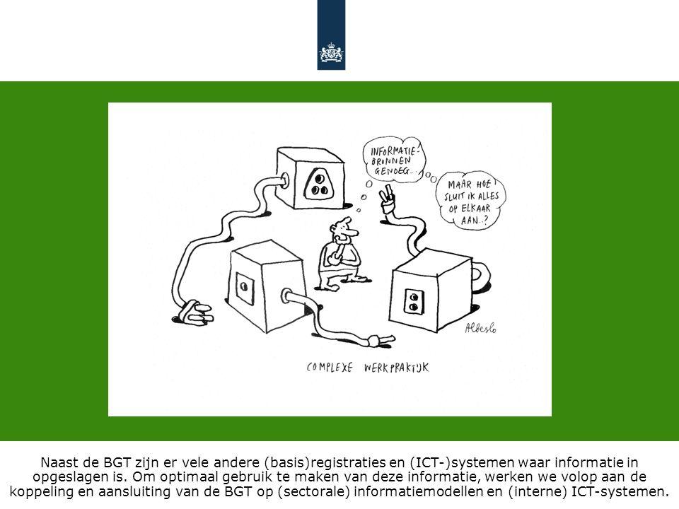 Naast de BGT zijn er vele andere (basis)registraties en (ICT-)systemen waar informatie in opgeslagen is.