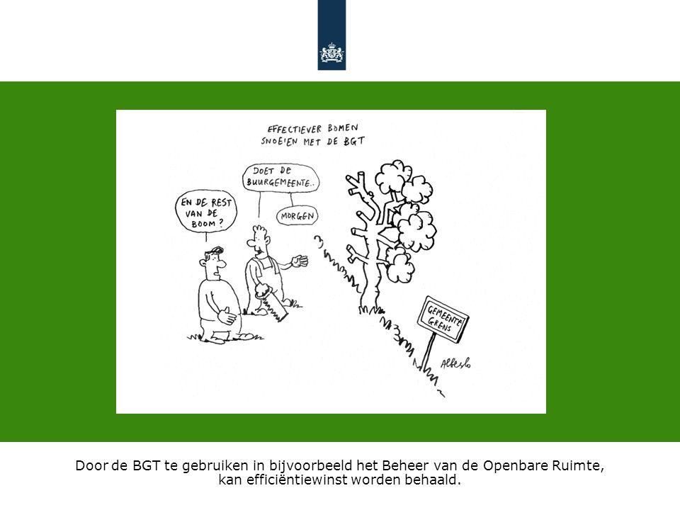 Door de BGT te gebruiken in bijvoorbeeld het Beheer van de Openbare Ruimte, kan efficiëntiewinst worden behaald.