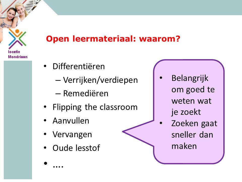 MAVO - HAVO - VWO Open leermateriaal: waarom.