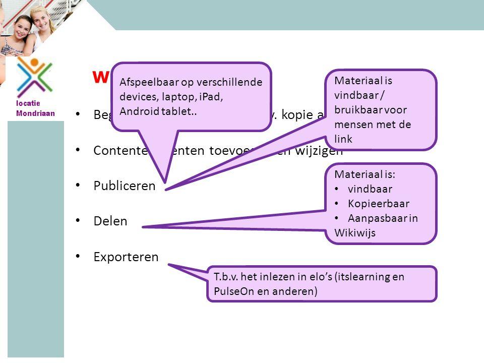 MAVO - HAVO - VWO Wikiwijs Maken Beginnen 'van scratch' of o.b.v.