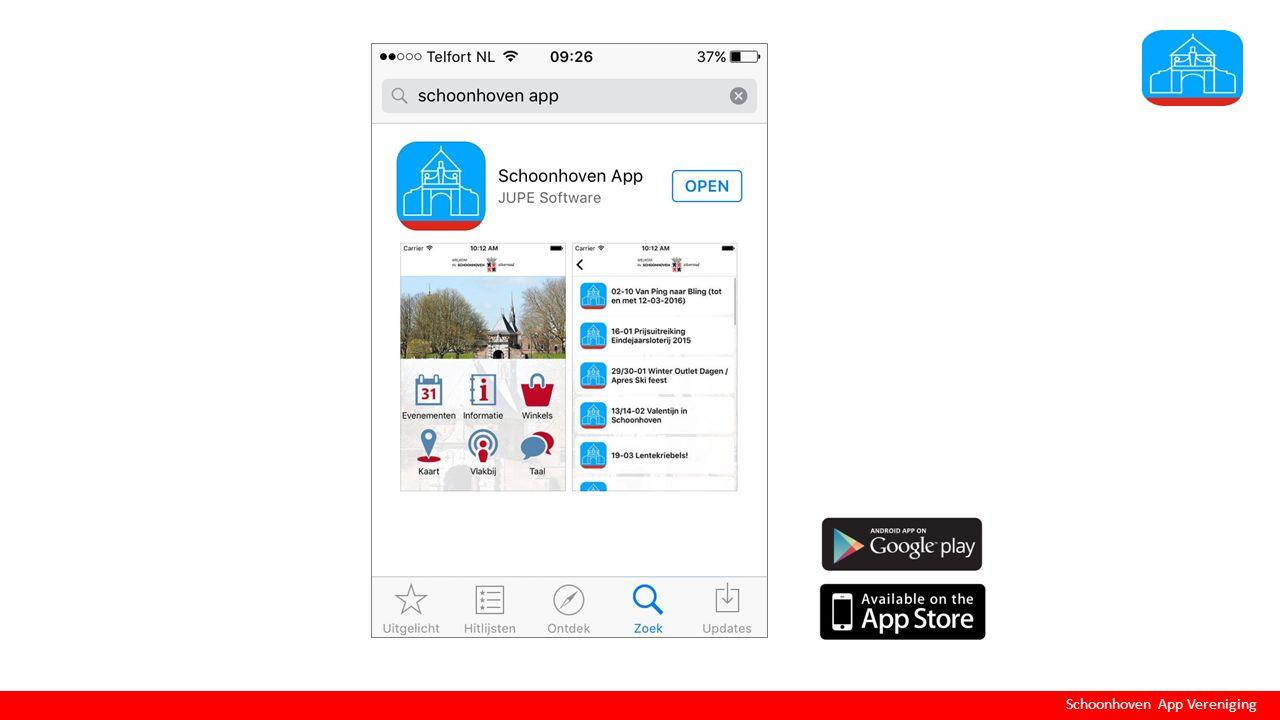 Schoonhoven App Vereniging