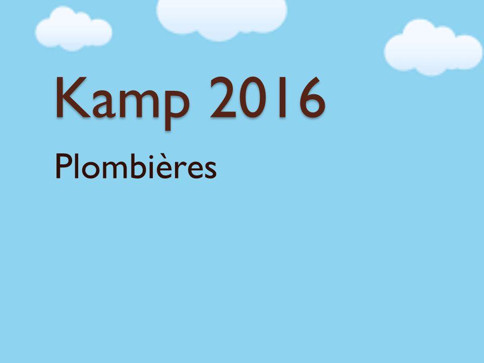 Kamp 2016 Plombières