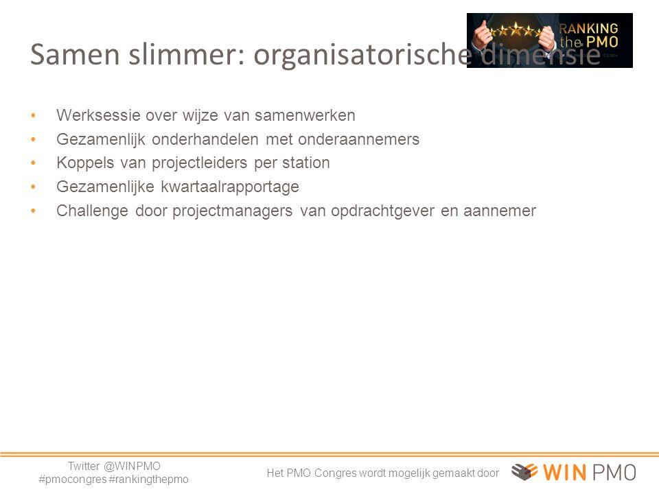 Twitter @WINPMO #pmocongres #rankingthepmo Het PMO Congres wordt mogelijk gemaakt door Samen leren in het team