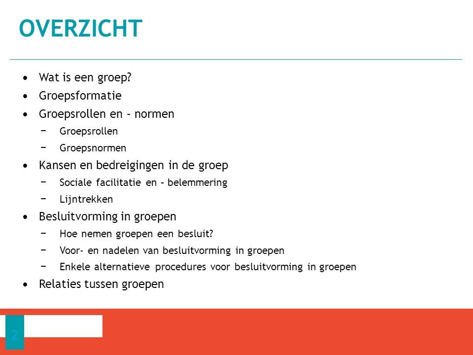 Groepsleden met een hoge status mogen meer afwijken van de normen dan andere groepsleden 7.3 GROEPSROLLEN EN -NORMEN 13