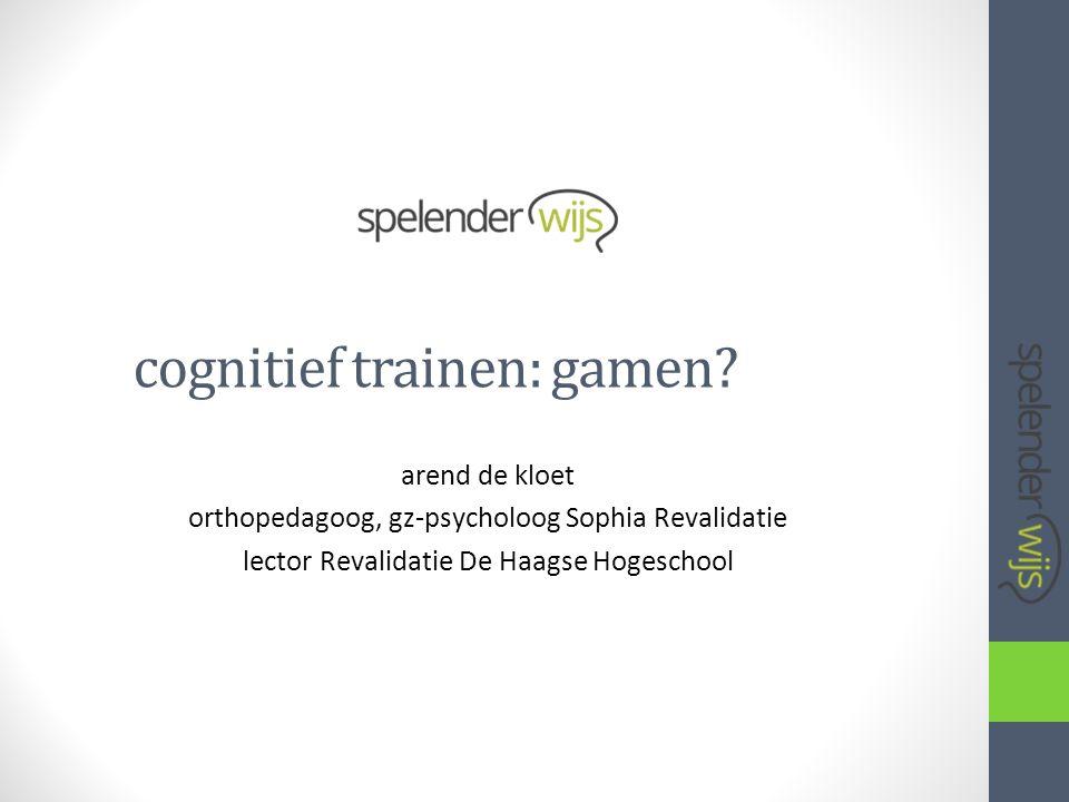 cognitief trainen: gamen.