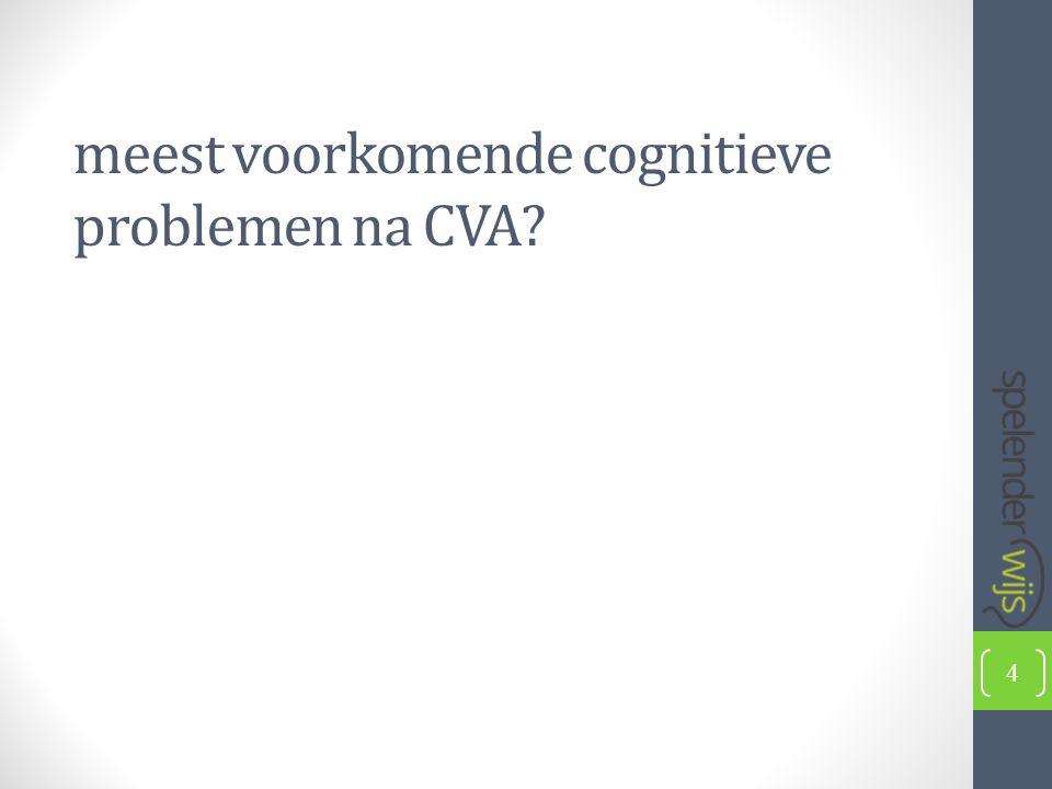 meest voorkomende cognitieve problemen na CVA 4