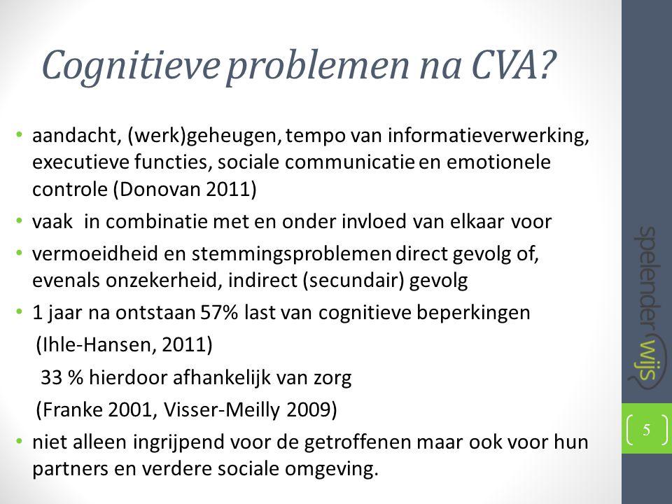 Cognitieve problemen na CVA.
