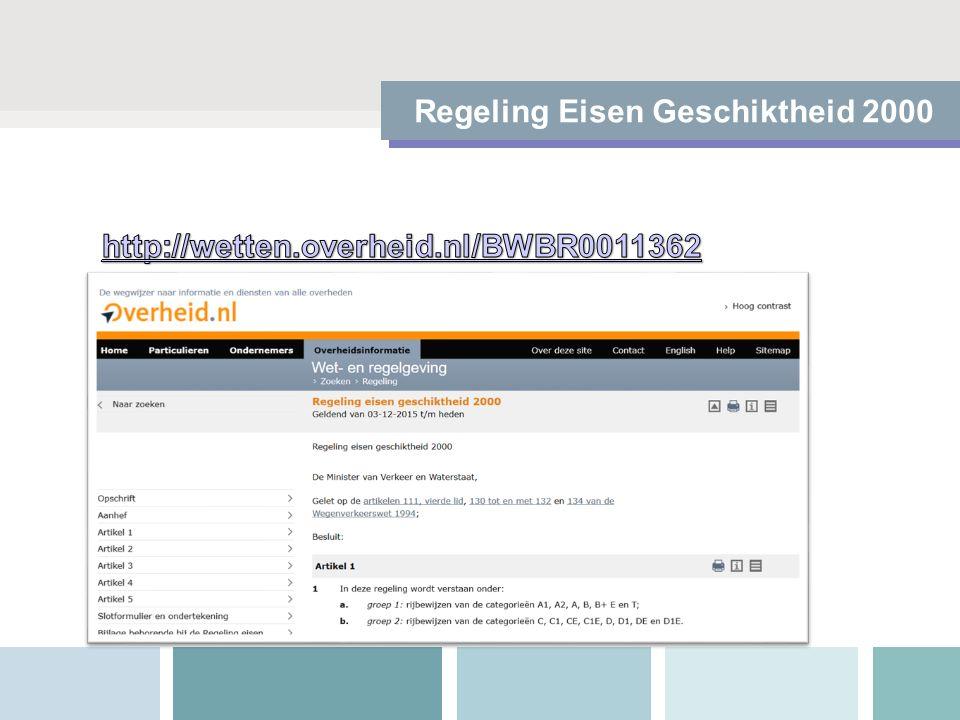 Regeling Eisen Geschiktheid 2000