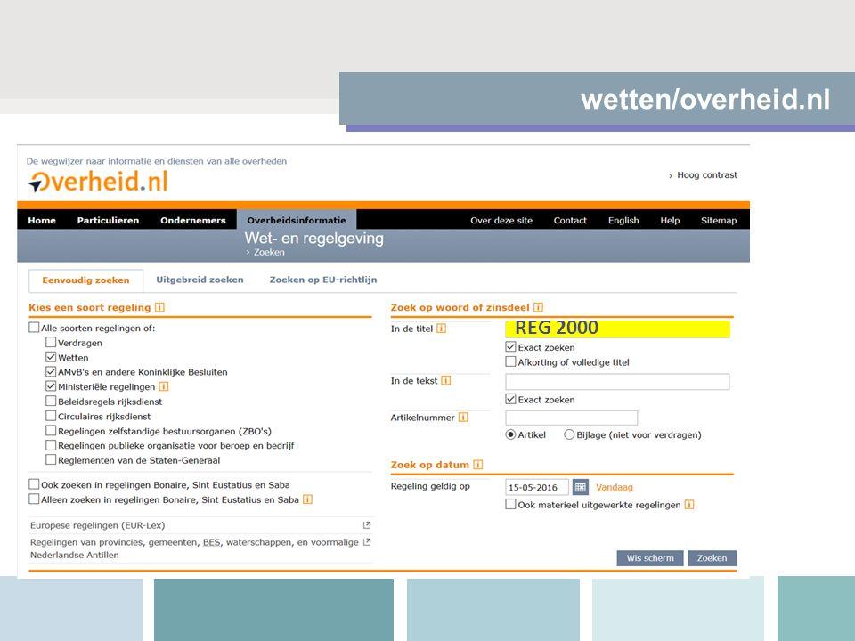 wetten/overheid.nl REG 2000