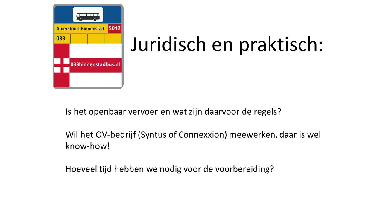 Juridisch en praktisch: Is het openbaar vervoer en wat zijn daarvoor de regels.